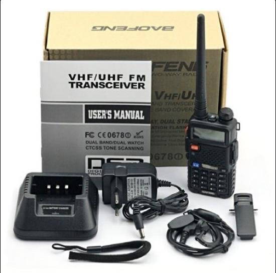 Set 10 statii radio Baofeng UV-5R Dual Band Tranciever + Bonus Casti cu microfon incluse
