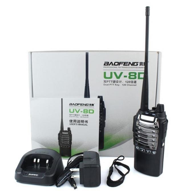 Statie Radio Walkie Talkie Baofeng UV-8D UHF 400 - 520MHz 16CH PROGRAMABILE 4W, radio UHF 65 - 108 MHz