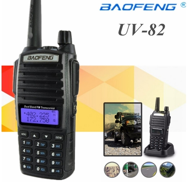 Statie Radio Baofeng UV-82Dual Band Transceiver 5W 128 canale , Radio FM