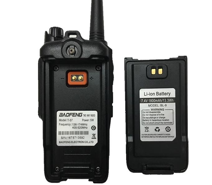 Statie Radio Walkie Talkie Baofeng T-57, ptr conditii extreme dual band 136-174 Mhz, 400-520 Mhz, 5W