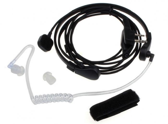 Laringofon cu tub acustic pentru statii emisie receptie cu mufa K