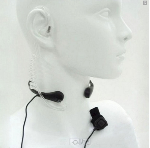 Laringofon cu tub acustic pentru statii emisie receptie cu mufa K 0