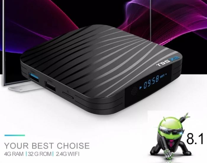Raldio T95X2 Mediaplayer Smart TV Box  2 GB si 16 GB RAM miniPC Android 8.1  8000 posturi TV LIVE din intreaga lume 4