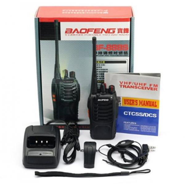Statie Radio Walkie Talkie Baofeng BF-888S UHF 400-470MHz 16CH Dual Band Transceiver 5W 1