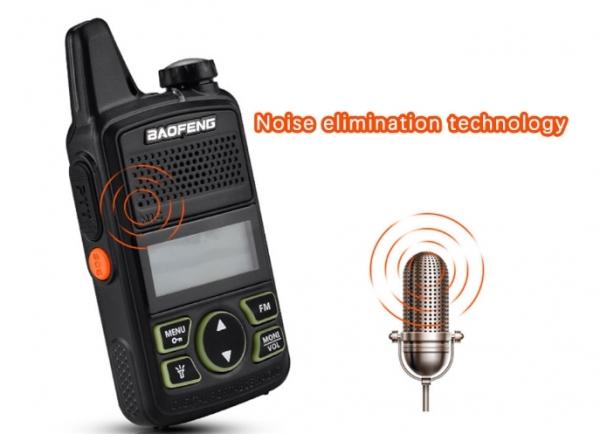 Statie radio Mini Walkie Talkie BF-T1, 20 canale UHF, radio FM  63 MHz - 108 MHZ 3