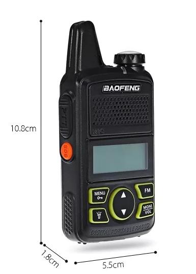Statie radio Mini Walkie Talkie BF-T1, 20 canale UHF, radio FM  63 MHz - 108 MHZ 0