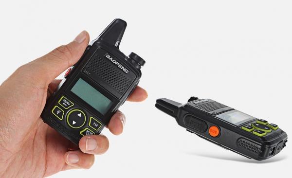 Statie radio Mini Walkie Talkie BF-T1, 20 canale UHF, radio FM  63 MHz - 108 MHZ