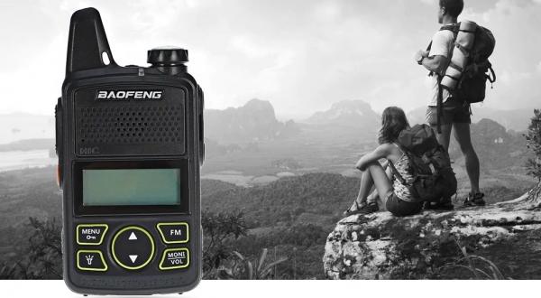 Statie radio Mini Walkie Talkie BF-T1, 20 canale UHF, radio FM  63 MHz - 108 MHZ 5