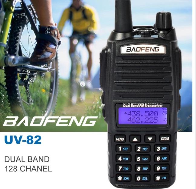 Set 10 statii UV- 82 walkie talkie transiever, 5 W, dual band VHF, UHF, 2800 mAH , radio FM, BONUS cablu programare + CD 9