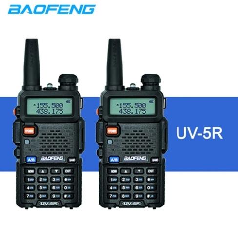 Set 2 statii radio Baofeng UV-5R Dual Band Tranciever + Bonus Casti cu microfon incluse